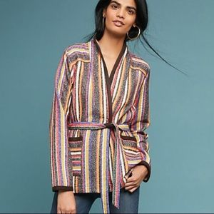 Anthro AKEMI+KIN Mansoura Striped Jacket Size M